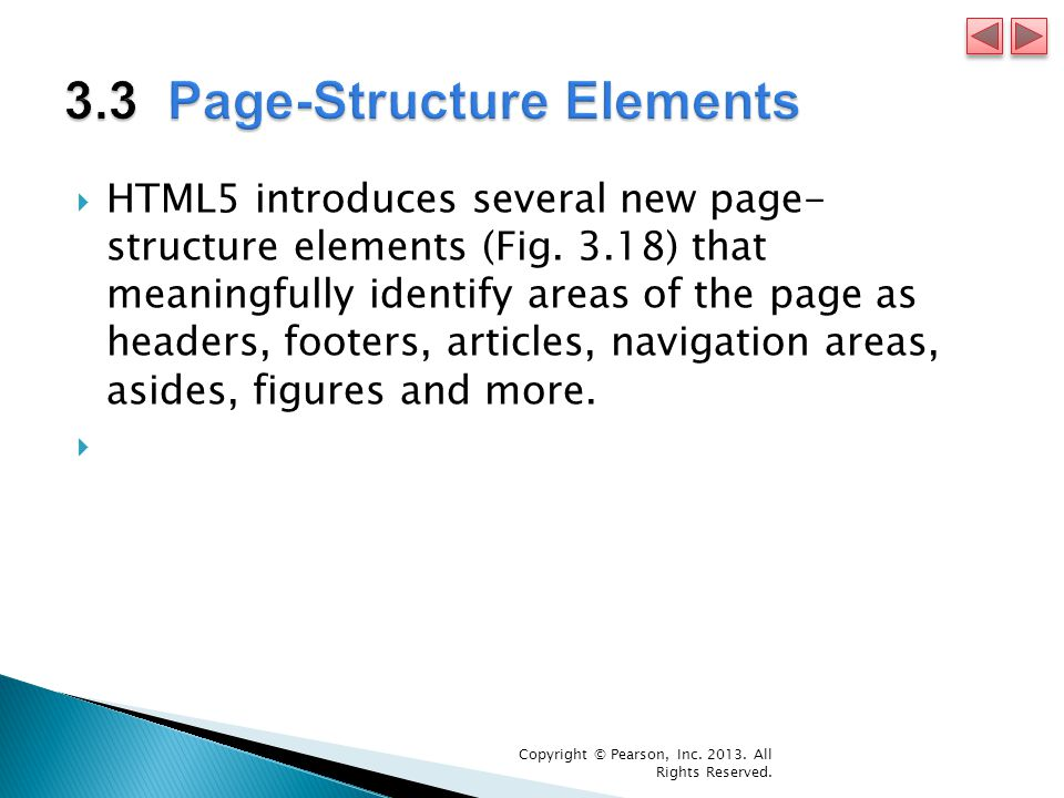 HTML5 introduces several new page- structure elements (Fig.
