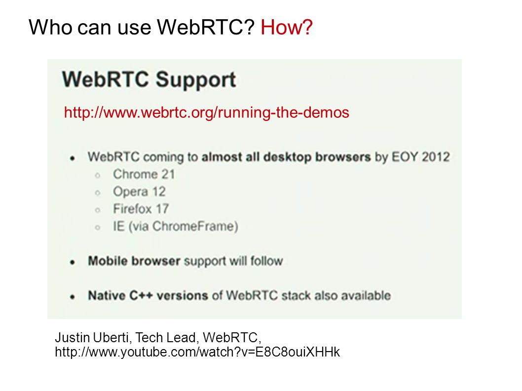 Who can use WebRTC.How.