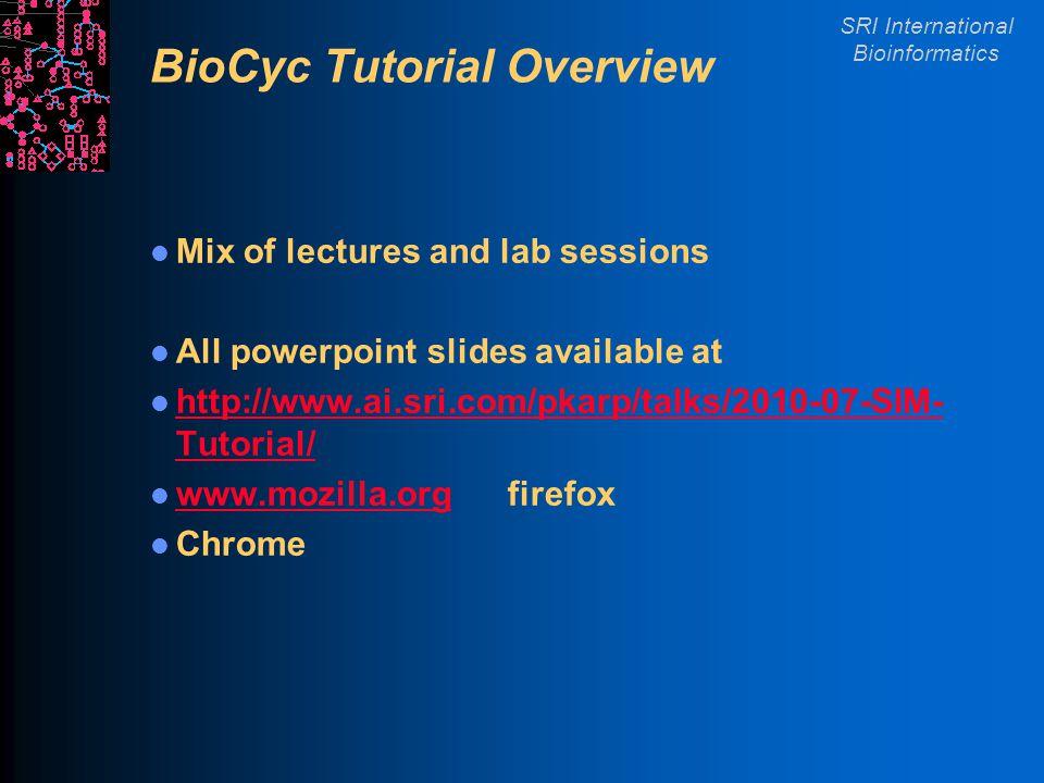 SRI International Bioinformatics Why Create PGDBs.