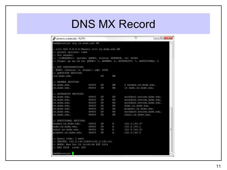 DNS MX Record 11