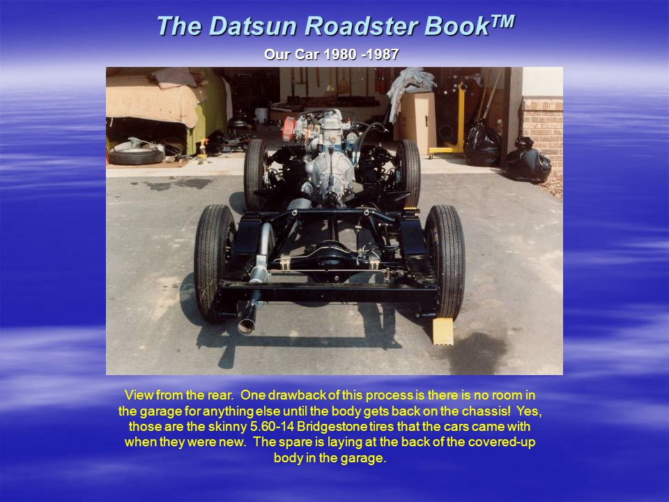 The Datsun Roadster Book TM Our Car 1980 -1987 View from the rear.