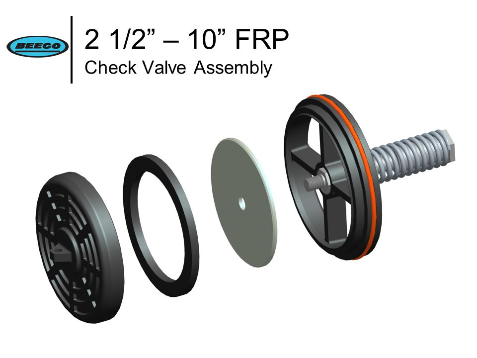 2 1/2 – 10 FRP Check Valve Assembly