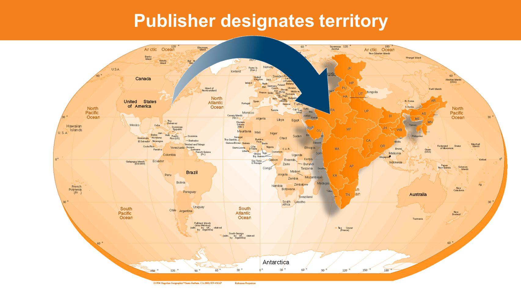 Publisher designates territory