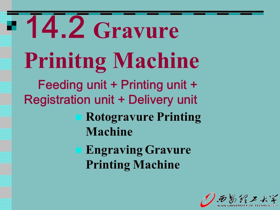 14.2 Gravure Prinitng Machine Rotogravure Printing Machine Engraving Gravure Printing Machine Feeding unit + Printing unit + Registration unit + Deliv