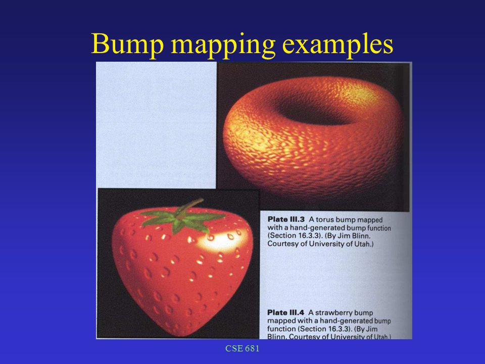 CSE 681 Bump mapping examples