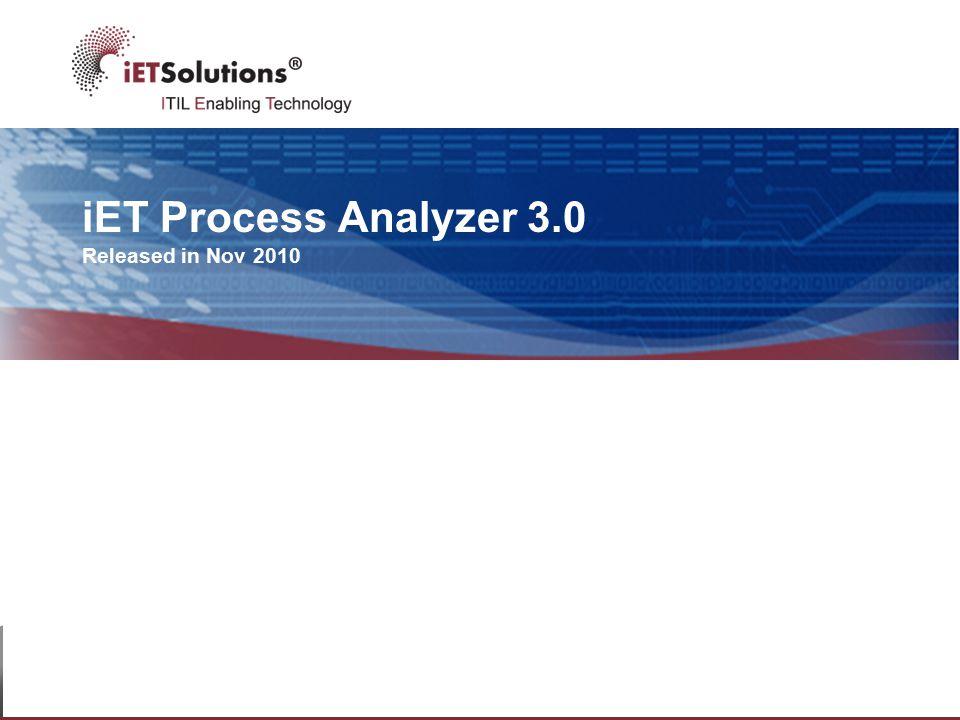 iET Process Analyzer 3.0 Released in Nov 2010