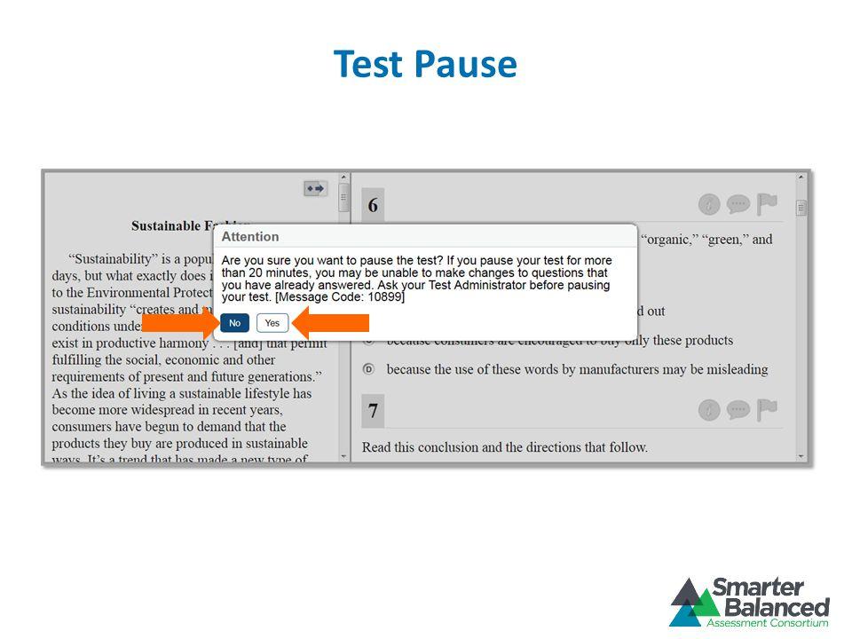 Test Pause