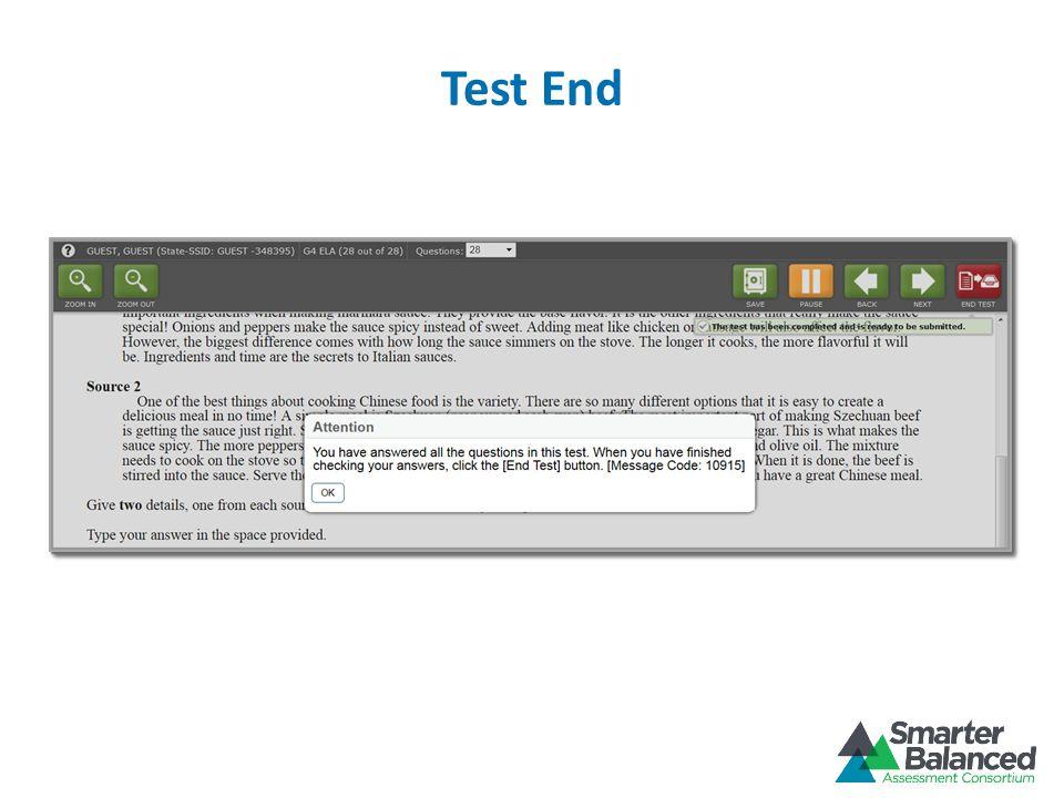 Test End