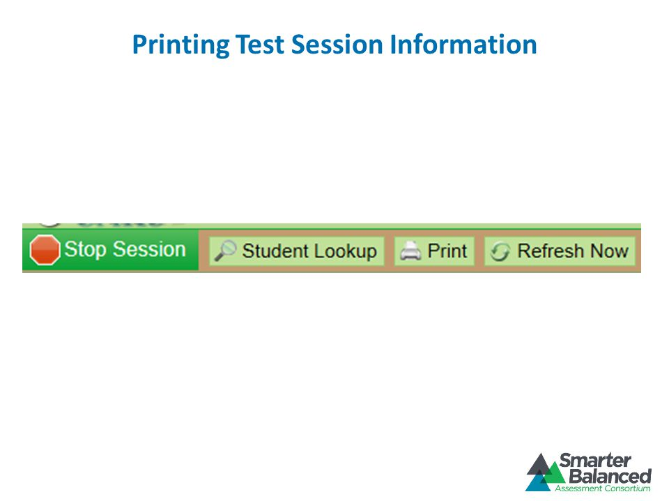 Printing Test Session Information