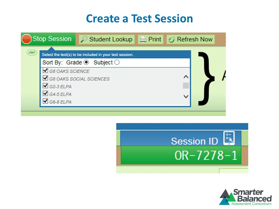 Create a Test Session