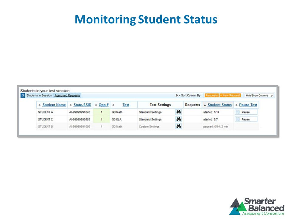 Monitoring Student Status