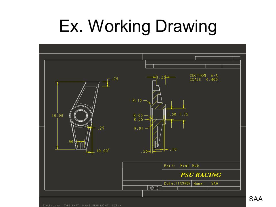 Ex. Working Drawing SAA