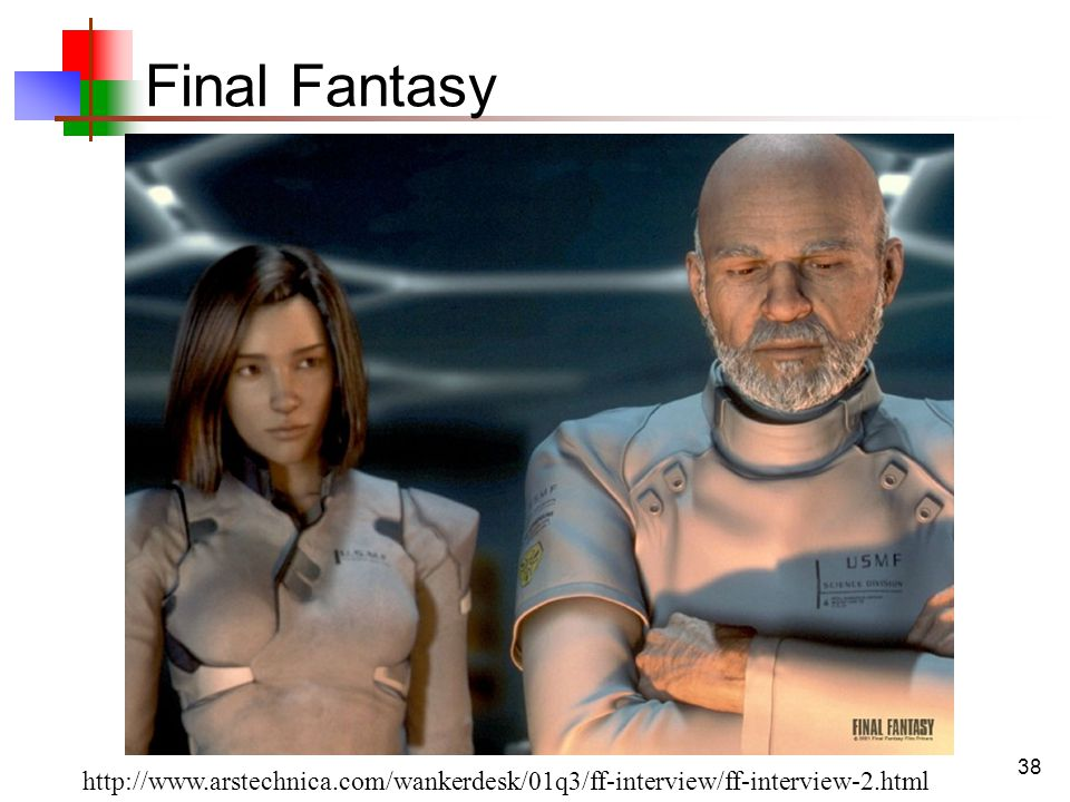 38 Final Fantasy http://www.arstechnica.com/wankerdesk/01q3/ff-interview/ff-interview-2.html