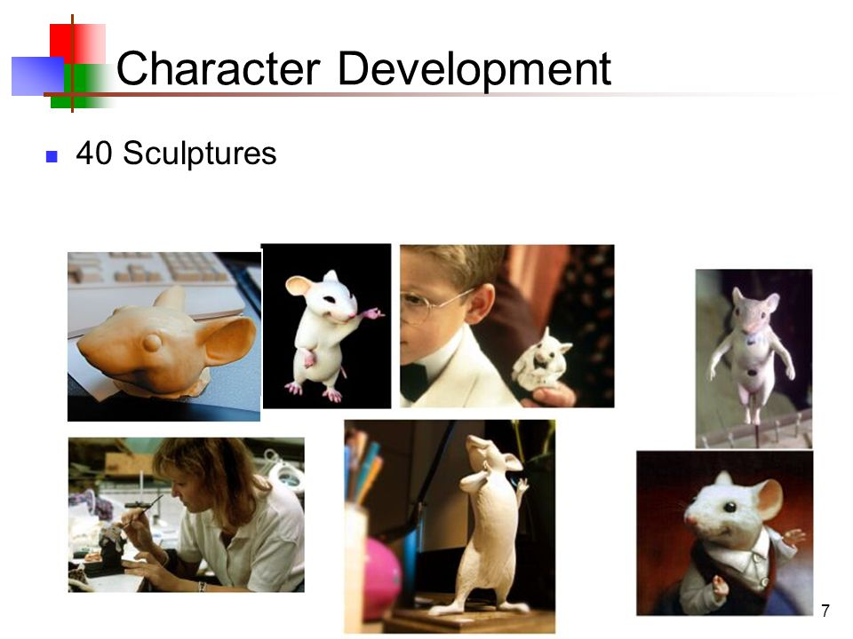 7 Character Development 40 Sculptures