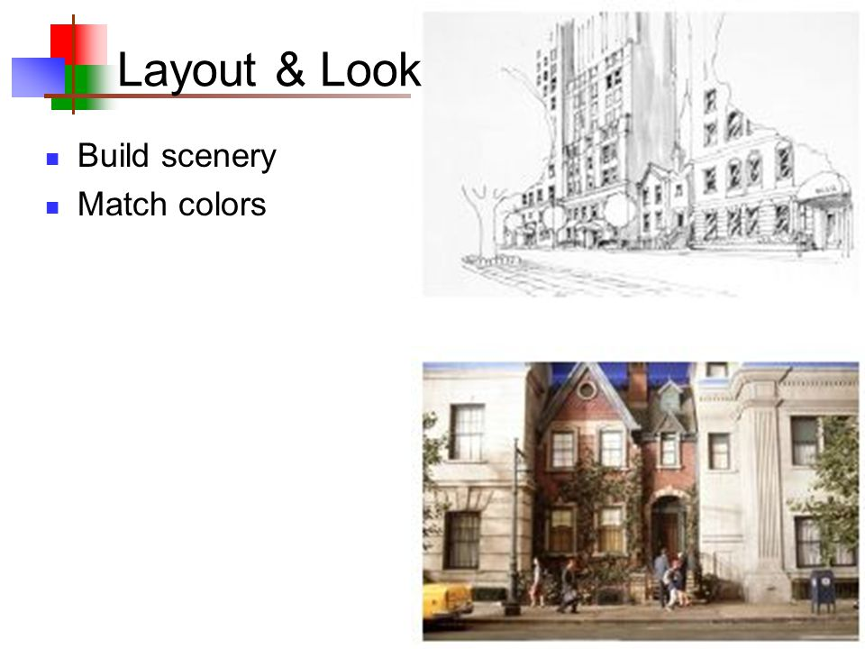 9 Build scenery Match colors Layout & Look