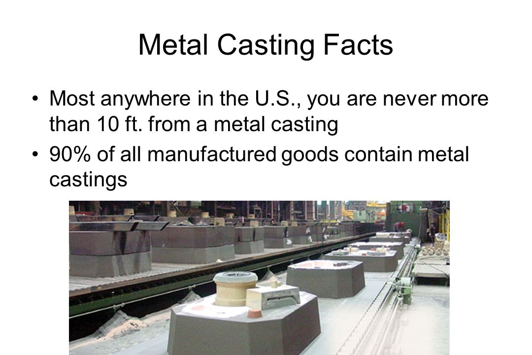 Metal Casting Facts Most anywhere in the U.S., you are never more than 10 ft.