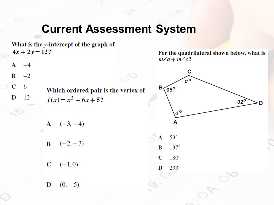 Current Assessment System