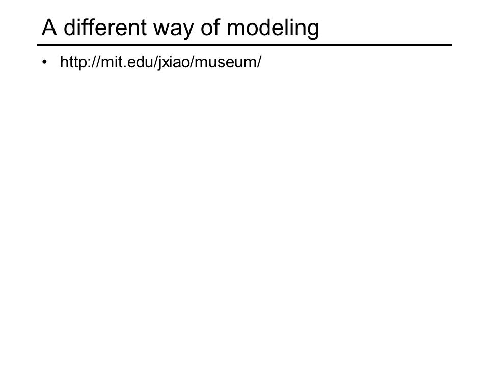 A different way of modeling http://mit.edu/jxiao/museum/