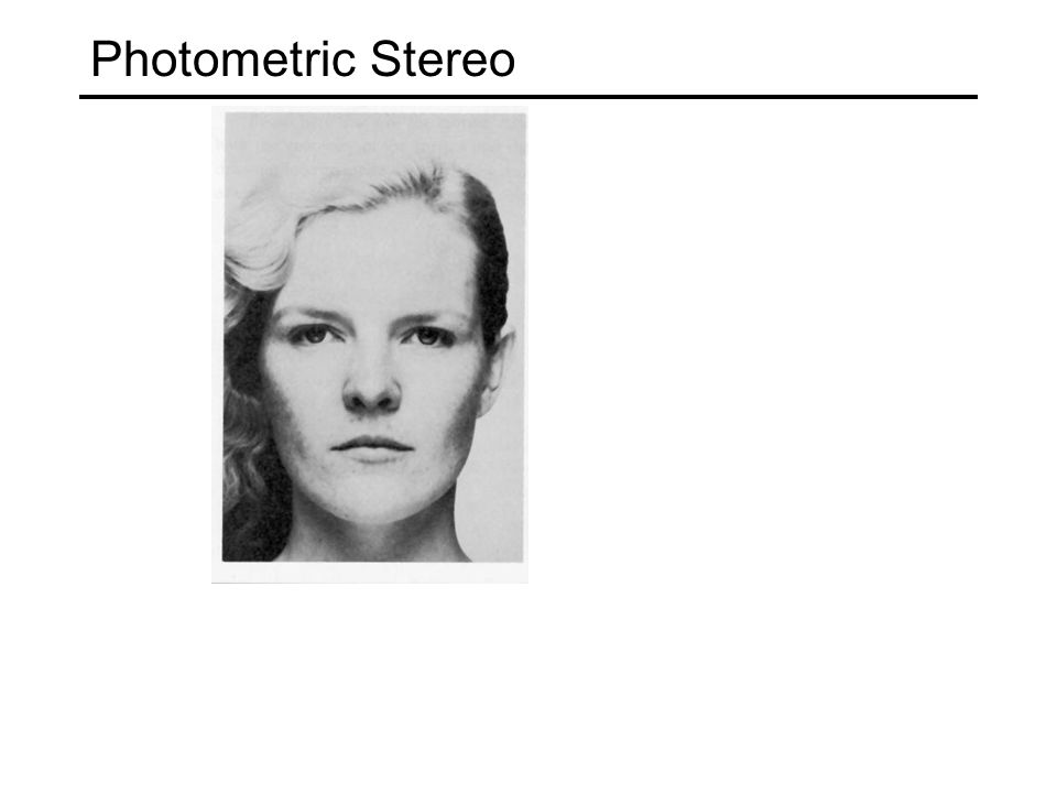 Readings R.Woodham, Photometric Method for Determining Surface Orientation from Multiple Images.