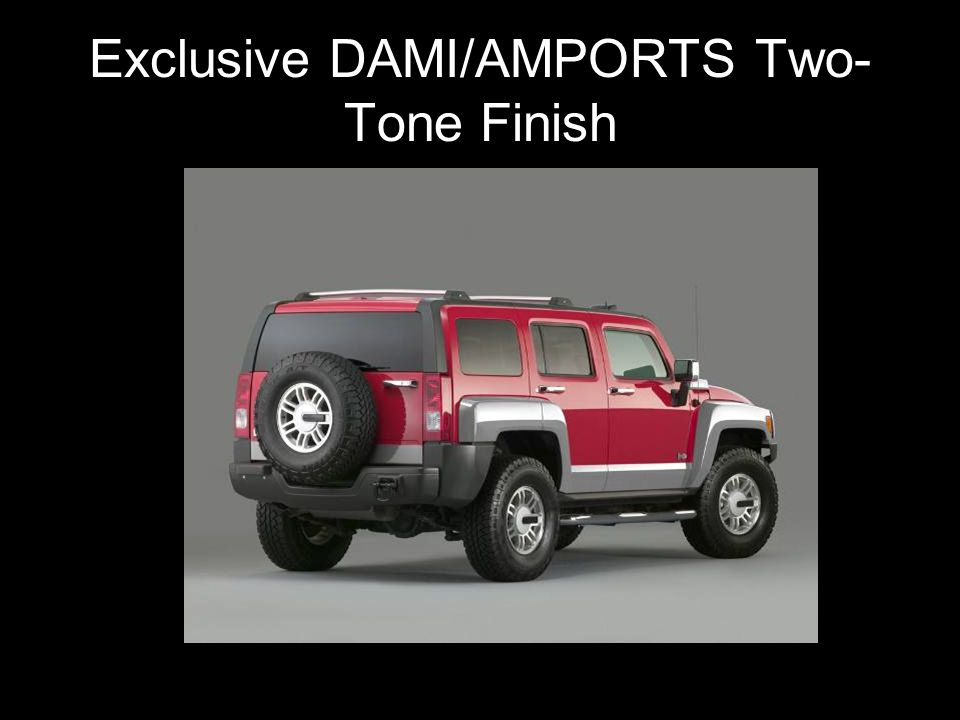 Exclusive DAMI/AMPORTS Two- Tone Finish