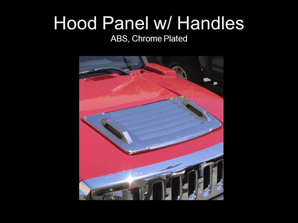 Hood Panel w/ Handles ABS, Chrome Plated