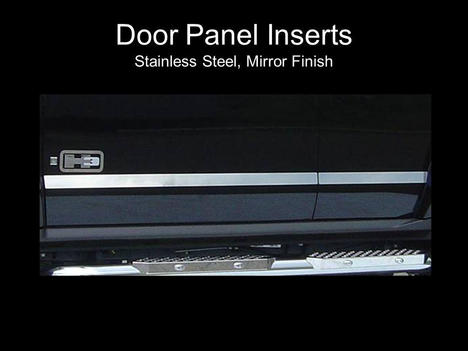 Door Panel Inserts Stainless Steel, Mirror Finish