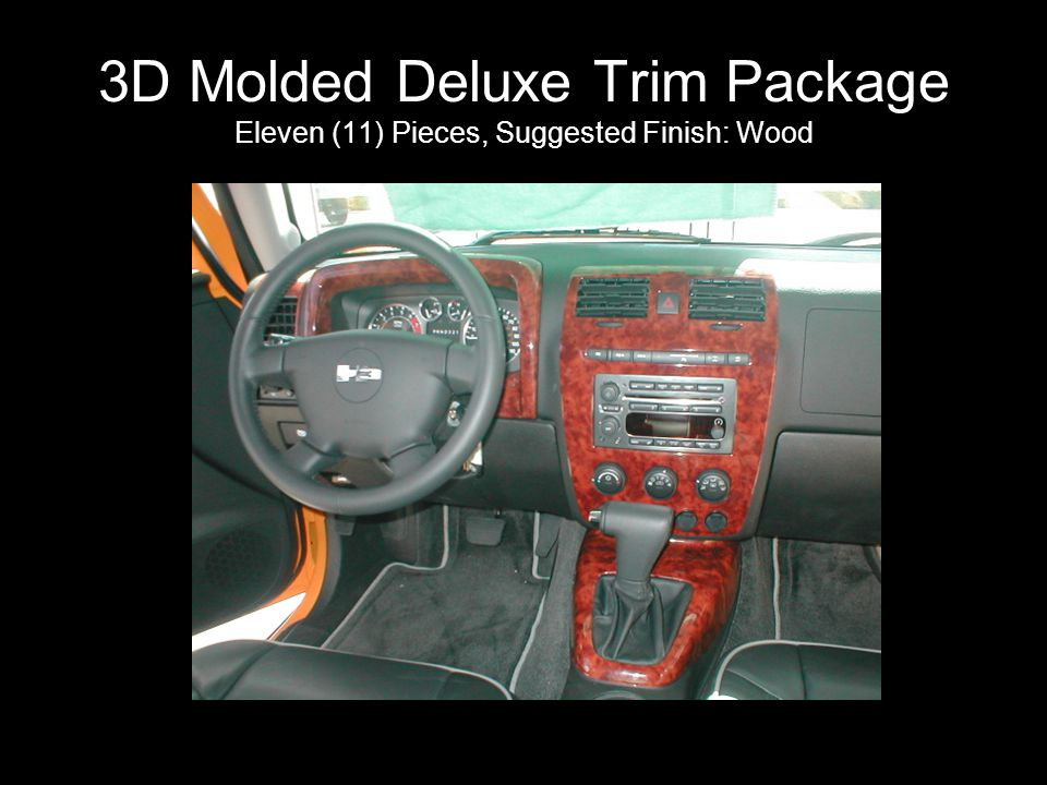 3D Molded Deluxe Trim Package Eleven (11) Pieces, Suggested Finish: Wood