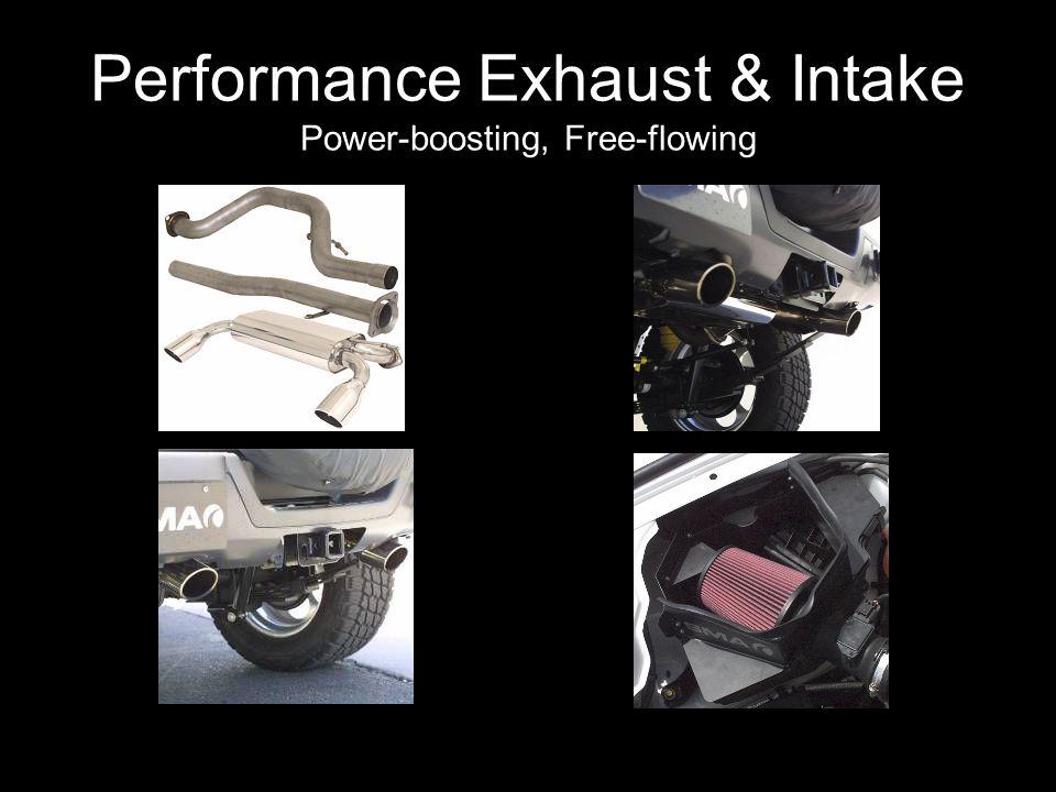 Performance Exhaust & Intake Power-boosting, Free-flowing