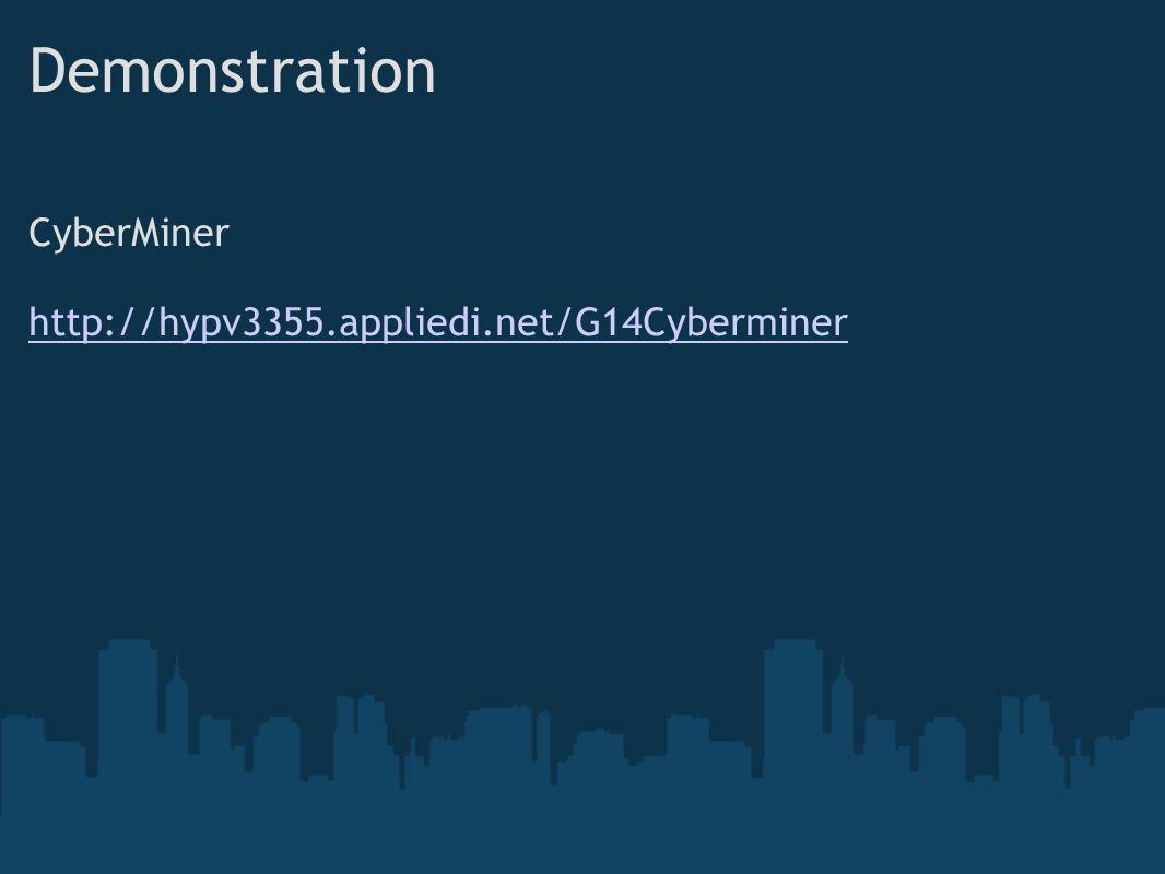 Demonstration CyberMiner http://hypv3355.appliedi.net/G14Cyberminer