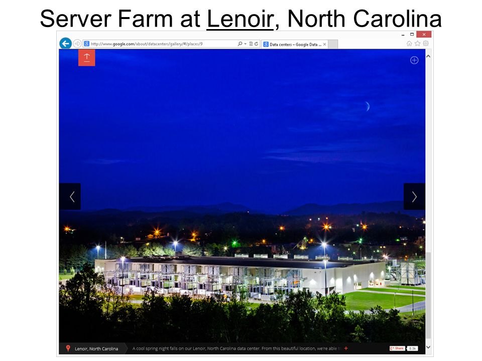 18 Server Farm at Lenoir, North CarolinaLenoir