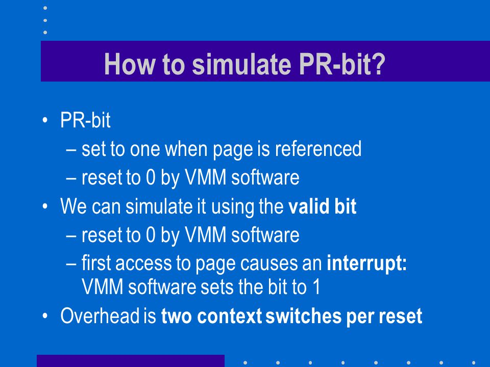 How to simulate PR-bit.