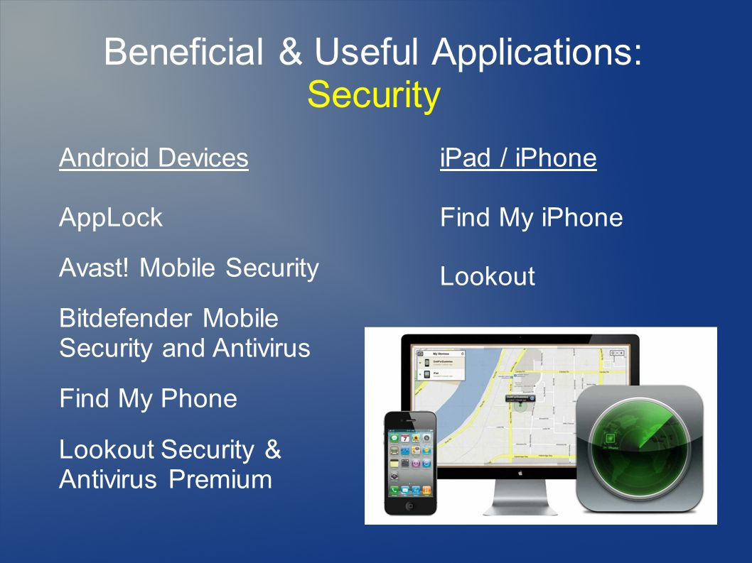 Beneficial & Useful Applications: Security Android Devices AppLock Avast.