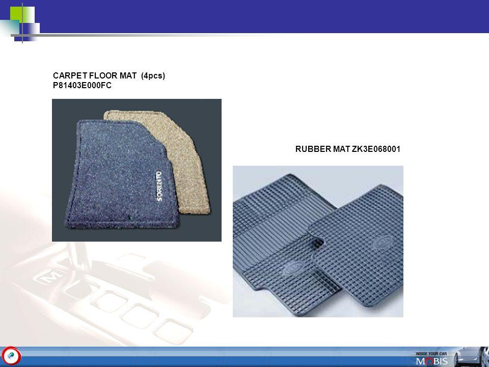 CARPET FLOOR MAT (4pcs) P81403E000FC RUBBER MAT ZK3E068001