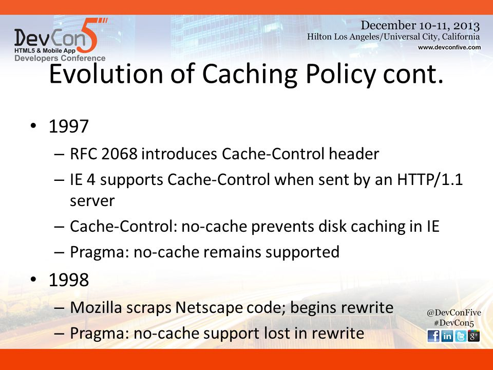 Evolution of Caching Policy cont.