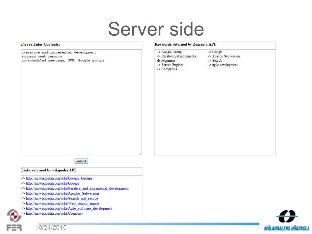 10/24/2010 Server side