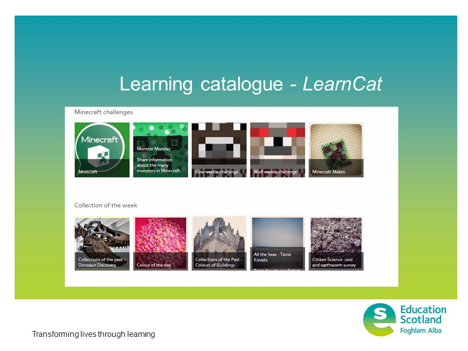 Transforming lives through learning Learning catalogue - LearnCat