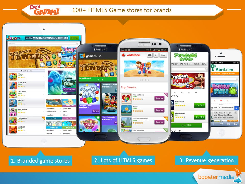 100+ HTML5 Game stores for brands 1. Branded game stores 2.