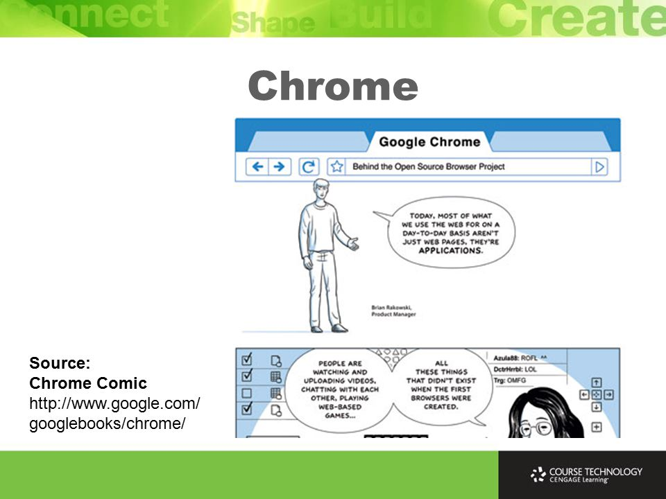 Chrome Source: Chrome Comic http://www.google.com/ googlebooks/chrome/