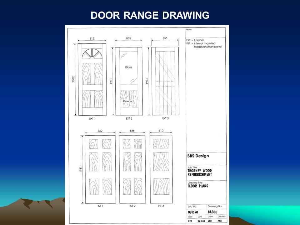 DOOR RANGE DRAWING