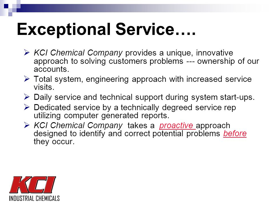 Exceptional Service….