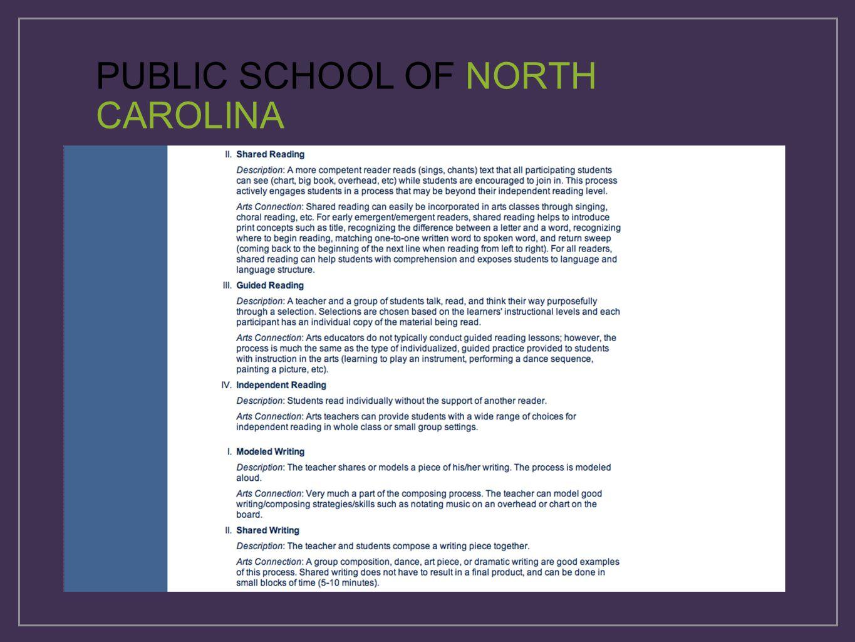 PUBLIC SCHOOL OF NORTH CAROLINA