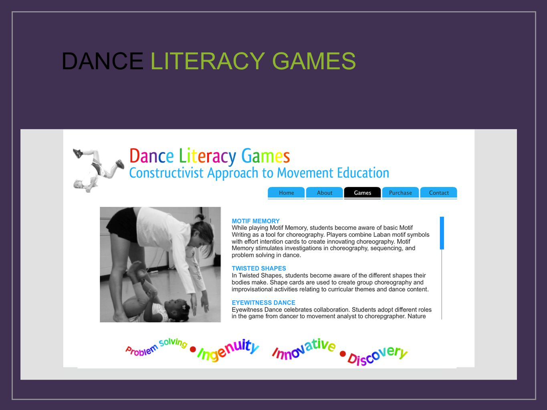 DANCE LITERACY GAMES