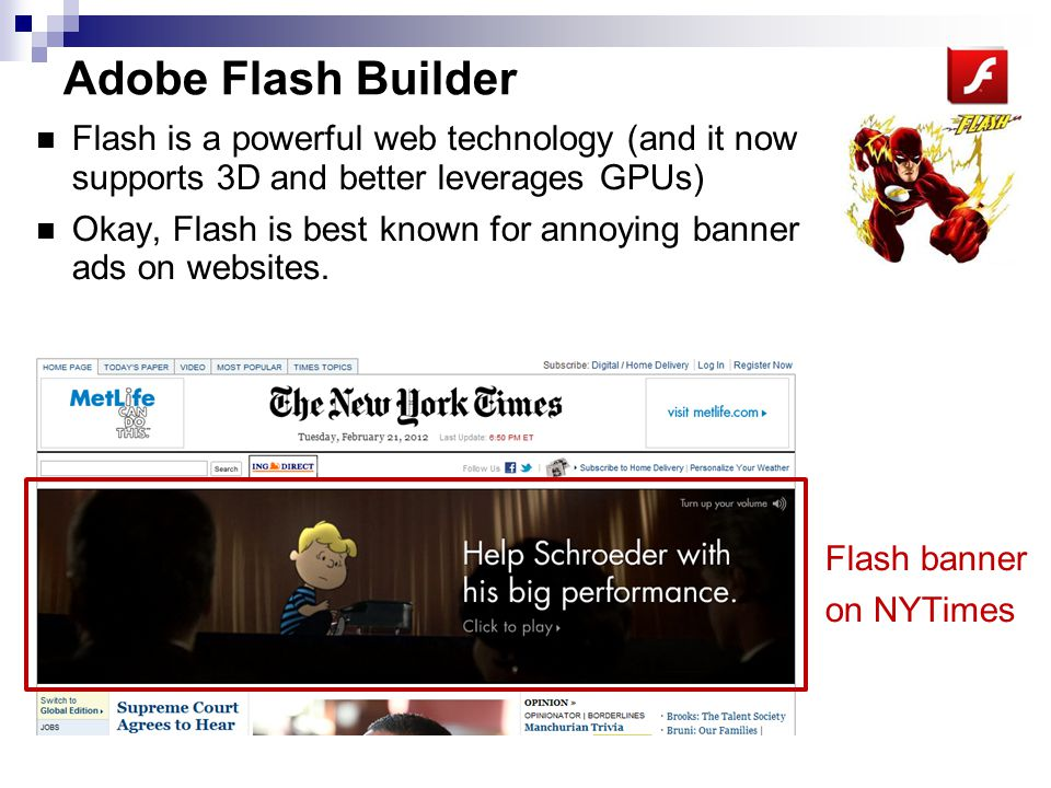 Adobe Flash Builder -1 Flash Builder can be used to create complex, forms based applications that run in all web browsers that have the Flash plugin.