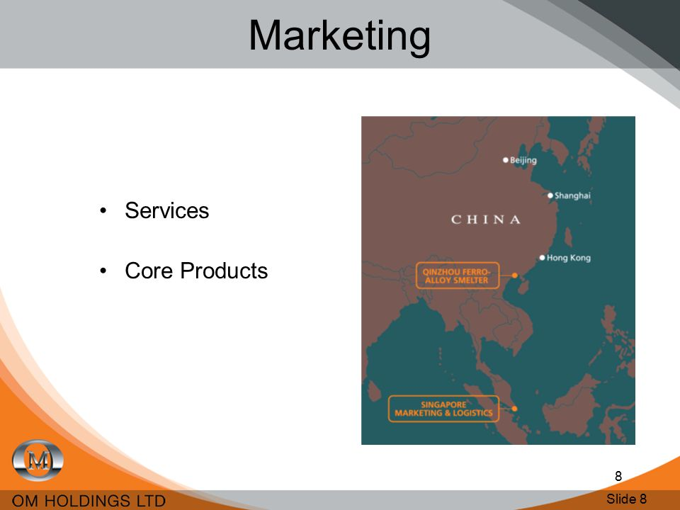 Slide 8 8 Marketing Services Core Products
