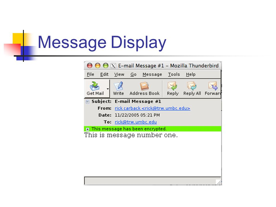 Message Display