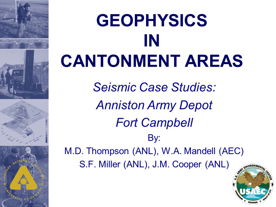 Anniston Army Depot Valley and Ridge Province Thrust Faulted Area Knox Group Dolomites