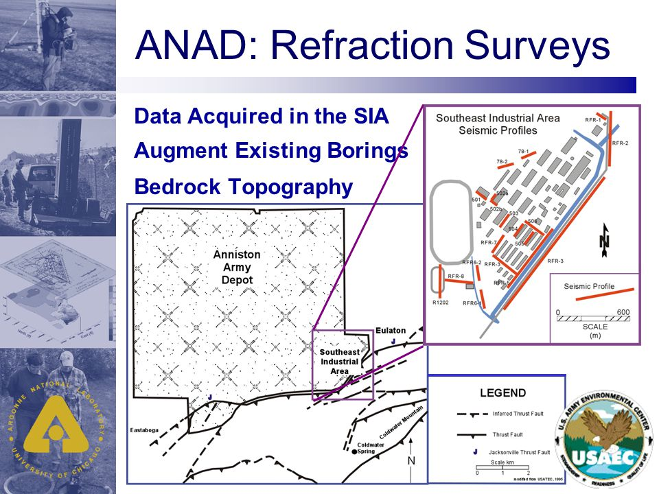 ANAD: Refraction Surveys Data Acquired in the SIA Augment Existing Borings Bedrock Topography
