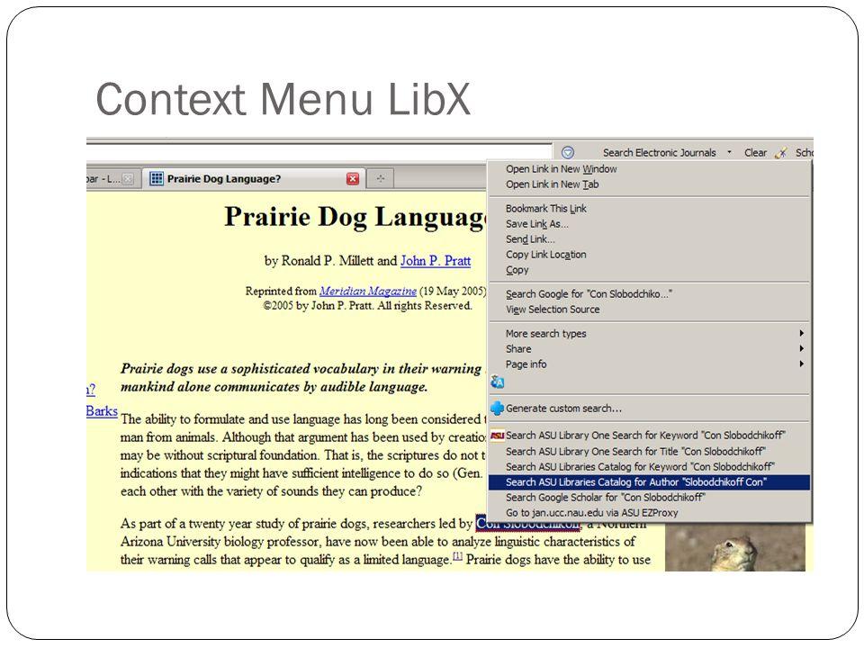 Context Menu LibX