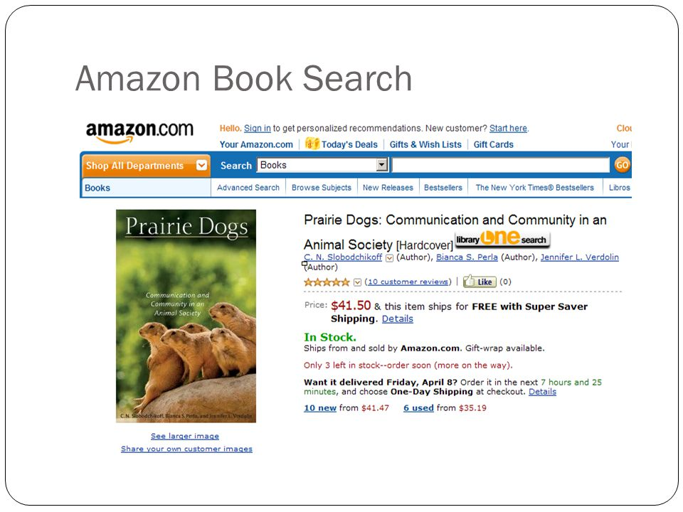 Amazon Book Search