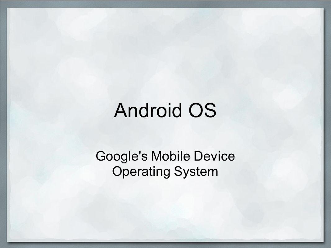Android s Future Adam LaFave
